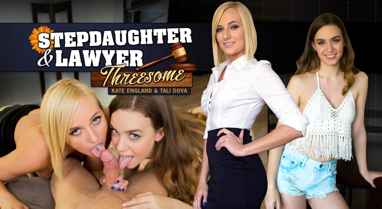 Stepdaughter and Lawyer Threesome