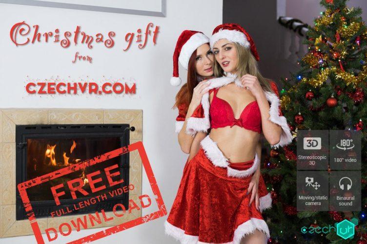 Katy Rose & Kattie Gold Christmas Gift VR Porn